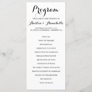 Hand Lettered Calligraphy Wedding Program