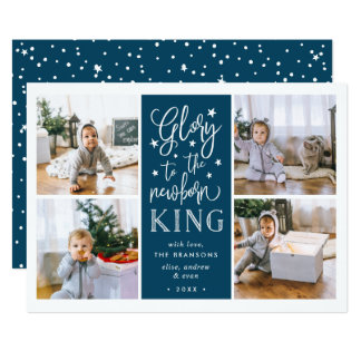 Hand Lettered Glory | Christmas Photo Collage Card