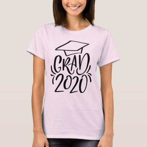 Hand_lettered Grad 2020 Cap T_Shirt