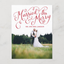 Hand Lettered Holiday Married and Merry