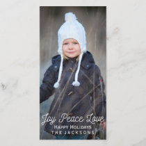 Hand Lettered Joy Peace Love Holiday Photo