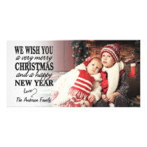 Hand Lettered Merry Christmas Full-Photo Card