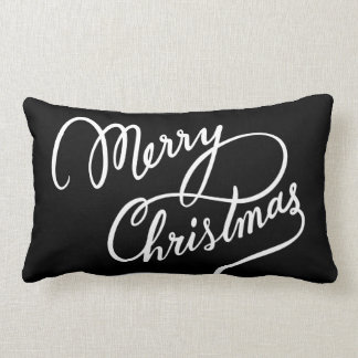 HAND-LETTERED MERRY CHRISTMAS | PILLOW