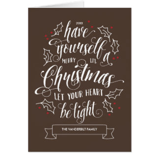 Hand Lettered Merry Li'l Christmas Holiday Folded Card