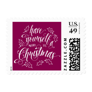 Hand Lettered Merry Li'l Christmas Holiday Postage