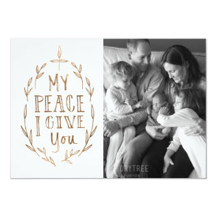 Hand-lettered My Peace I Give You Photo Card at Zazzle