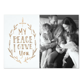 Hand-Lettered My Peace I Give You Photo Card