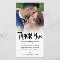 Hand Lettered Overlay Thank You Wedding Photo