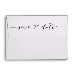 Hand-Lettered | Save the Date Envelope