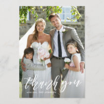 Hand Lettered Script Vertical Wedding Thank You