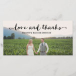 """Hand Lettered   Wedding Thank You Photo Card<br><div class=""""desc"""">Photographs provided courtesy of &#169;Blush Photography    For more colors and styles visit our shop!</div>"""