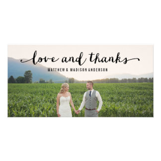 Hand Lettered | Wedding Thank You Photo Card