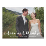 Hand Lettered | Wedding Thank You Postcard at Zazzle