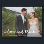 "Hand Lettered | Wedding Thank You Postcard<br><div class=""desc"">All photography is displayed as a sample only and is not for resale. This product is only intended to be purchased once sample photos are replaced with your own images.</div>"