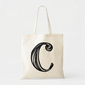 Hand Lettering Alphabet C Tote Bag
