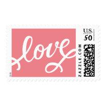 Hand Lettering Love Modern Valentine's Day Stamp