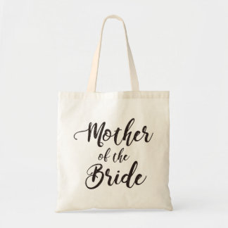Hand lettering - mother of the bride tote bag