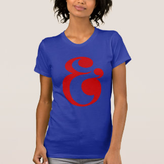 Hand Lettering Typography Design, Ampersand Symbol Tee Shirts