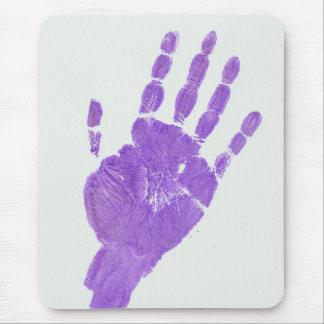 Hand - Light Purple Mouse Pad