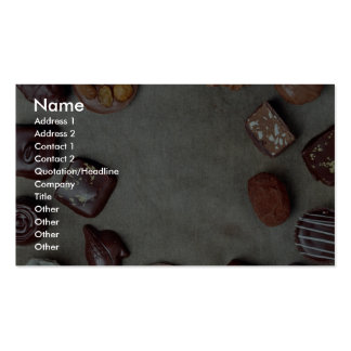 Hand-made chocolates business card templates