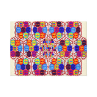 Hand-made quilt canvas print