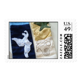 Hand Made Scarf Postage Stamp