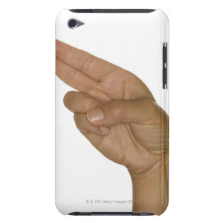 Hand making H sign Barely There iPod Cover
