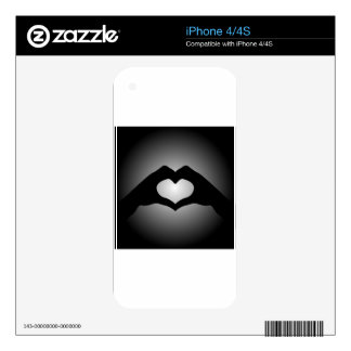 hand making sign Heart Decal For iPhone 4S