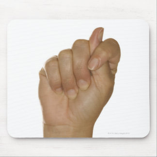 Hand making T sign Mouse Pad
