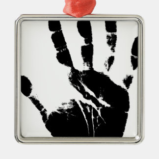 Hand Mark Metal Ornament