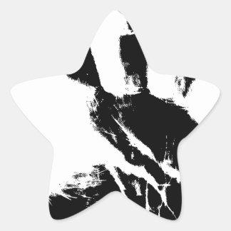 Hand Mark Star Sticker