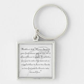 hand Matthew 18:8 Keychain
