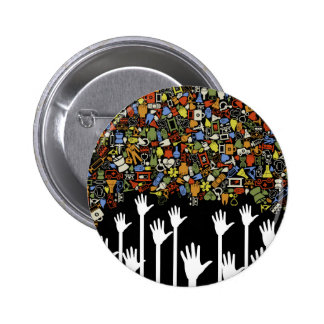 Hand medicine button