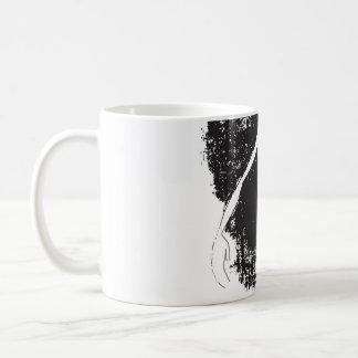 hand classic white coffee mug