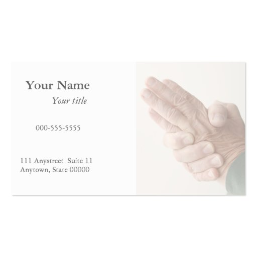 hand numbness business card