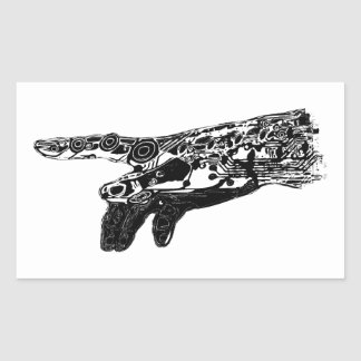 Hand of a Cyborg God? Rectangular Sticker