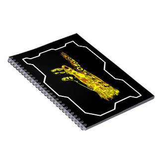 Hand of a Cyborg God (Yellow) Notebook