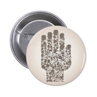 Hand of a part of a body pinback button
