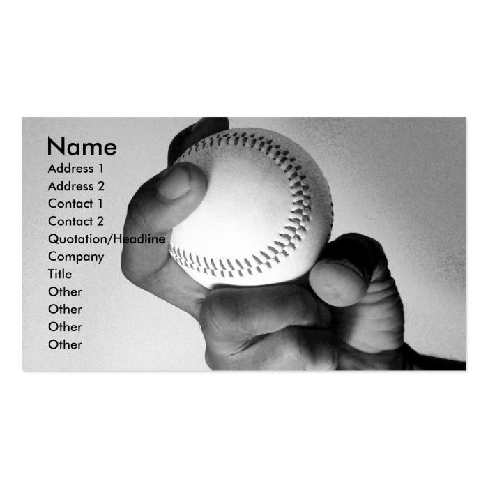 Hand of an Athlete Business Card