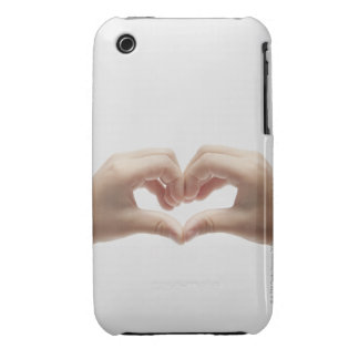 Hand of child who made shape of heart iPhone 3 Case-Mate cases