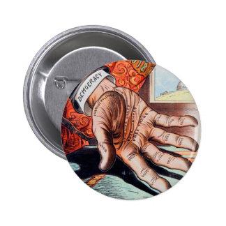 Hand of Democracy Vintage Retro Illustration Button