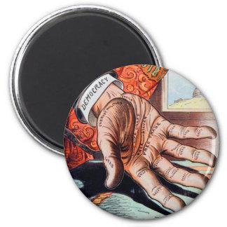 Hand of Democracy Vintage Retro Illustration Magnet
