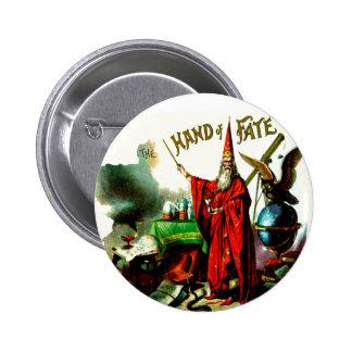Hand of Fate Wizard Magician Sorcerer Vintage Art Pinback Buttons