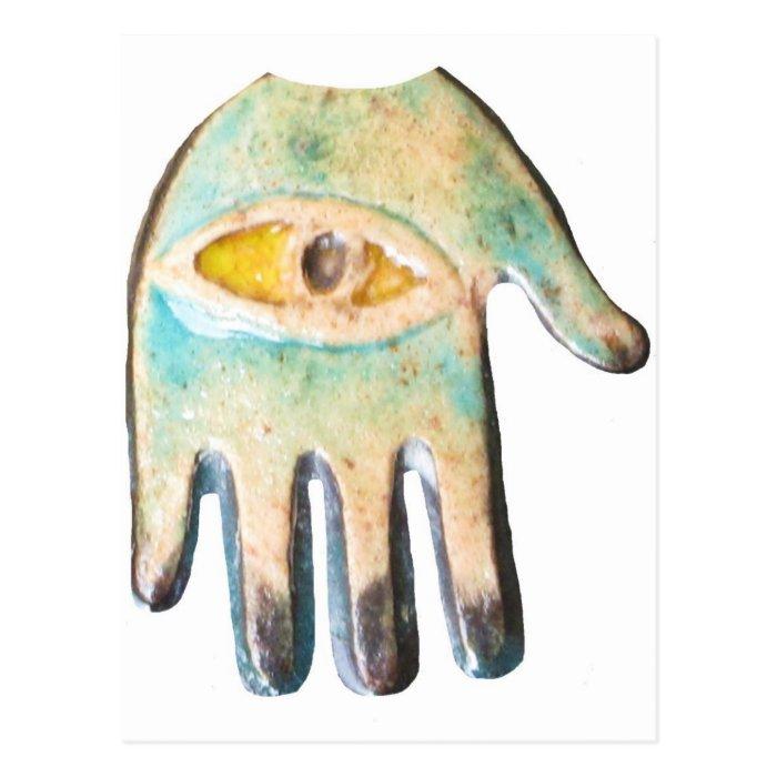 Hand of Fatima,  evil eye protection Postcard