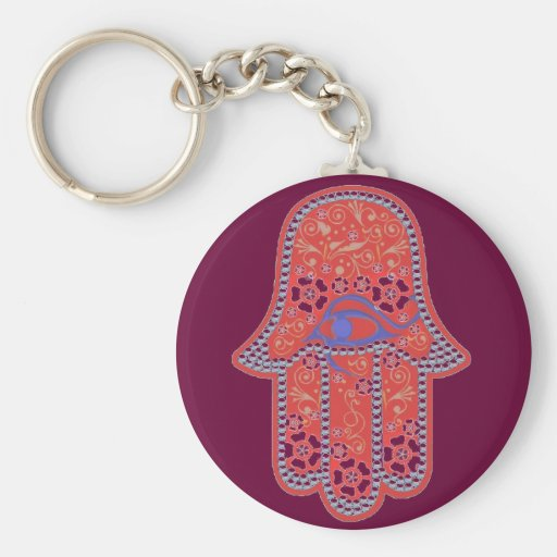Hand of Fatima hamsa Keychain