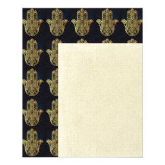 "Hand of Fatima,symbol of protection,Hamsa,gold on 4.5"" X 5.6"" Flyer"