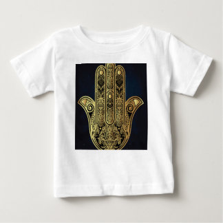 Hand of Fatima,symbol of protection,Hamsa,gold on Tee Shirts