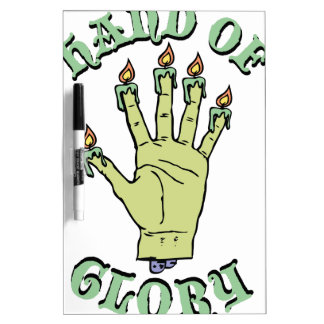 Hand of Glory Dry Erase Board