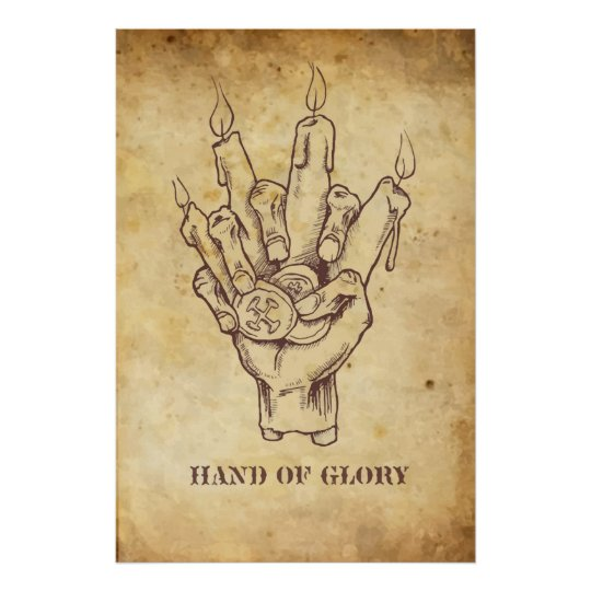"""""""Hand of Glory"""" Poster"""