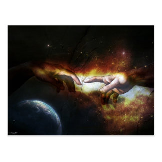 Hand of God and Adam Postcard